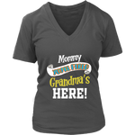 Mommy You're Fired T-Shirt - Women's V-Neck District Womens V-Neck / Charcoal / S
