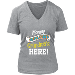 Mommy You're Fired T-Shirt - Women's V-Neck District Womens V-Neck / Heathered Nickel / S