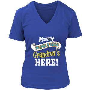 Mommy You're Fired T-Shirt - Women's V-Neck District Womens V-Neck / Royal Blue / S
