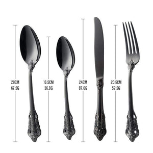 Noir Royal Flatware Set - 80% OFF