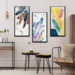 Nordic Feather Canvas Wall Art Collection