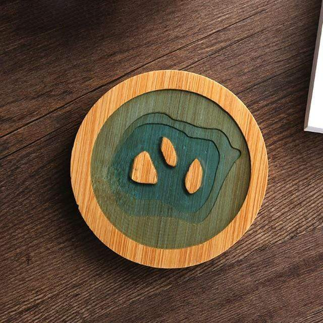Ocean Vibes Bamboo Coasters Islands