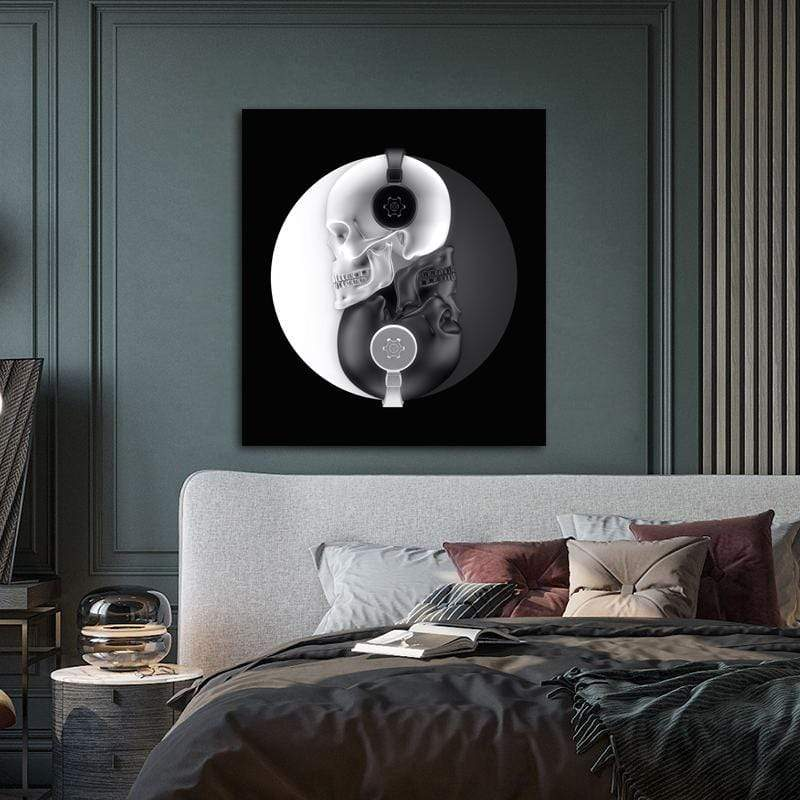 Peaceful Spinnin' Skulls Canvas Wall Art