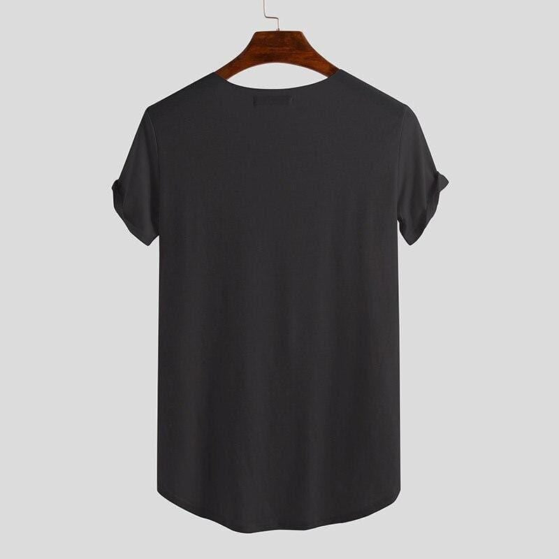 Relaxed Henley Black / S