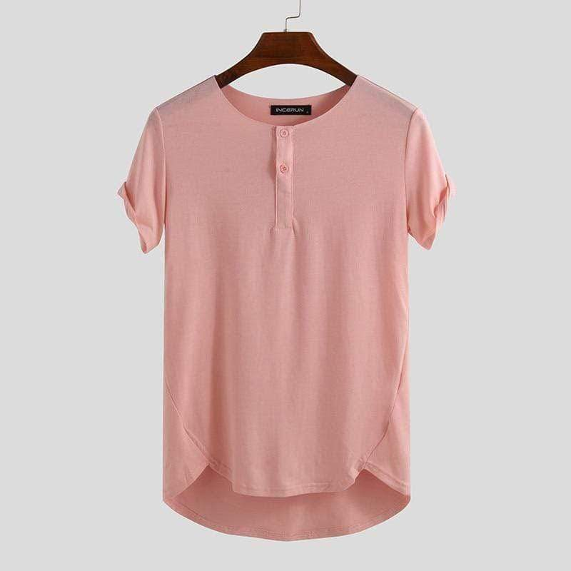 Relaxed Henley Pink / S