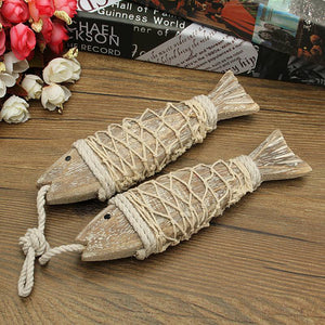 Rustic Hanging Fish Decor