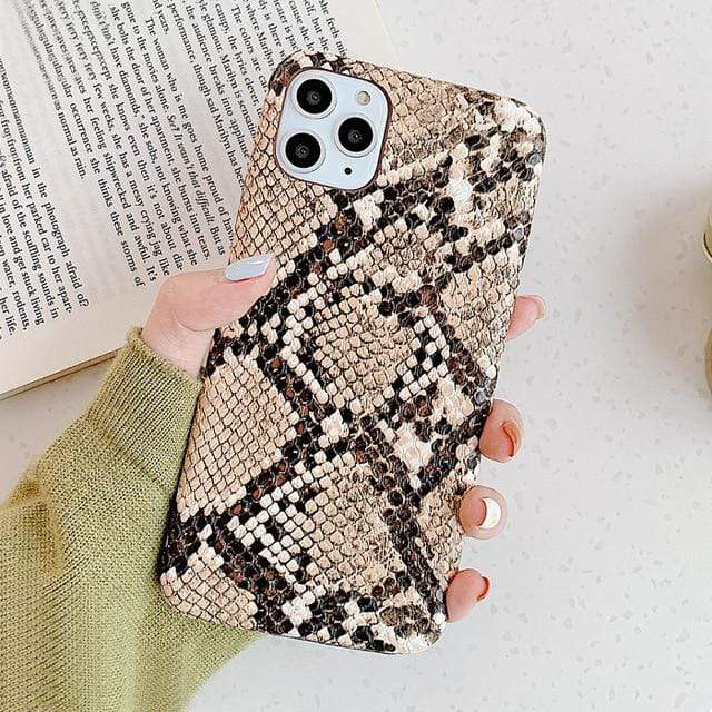 Stacy Snakeskin IPhone Case - 50% OFF For iphone 11 / Brown