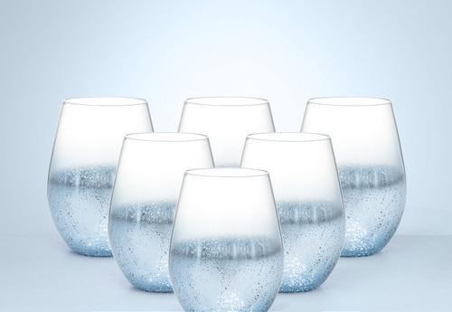 Star Speckled Drinking Glass 6pcs [1254]