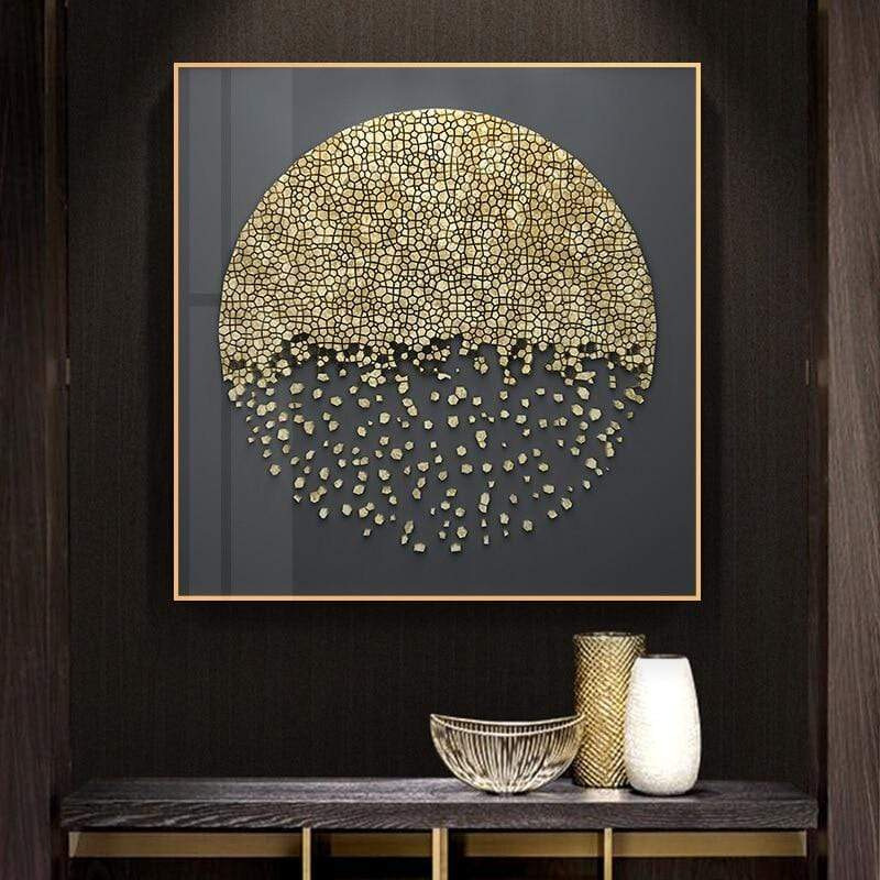 Textured Gold Canvas Art Collection 30x30cm / A