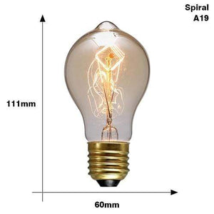 The Edison Light Bulb Collection A19 Spirai