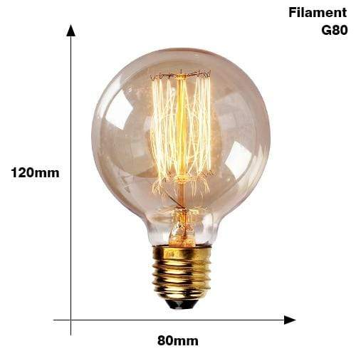 The Edison Light Bulb Collection G80 Filament