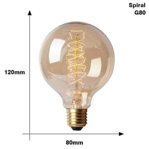The Edison Light Bulb Collection G80 Spiral