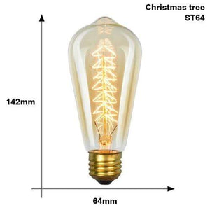 The Edison Light Bulb Collection ST64 Christmas tree