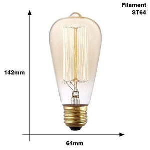 The Edison Light Bulb Collection ST64 Filament