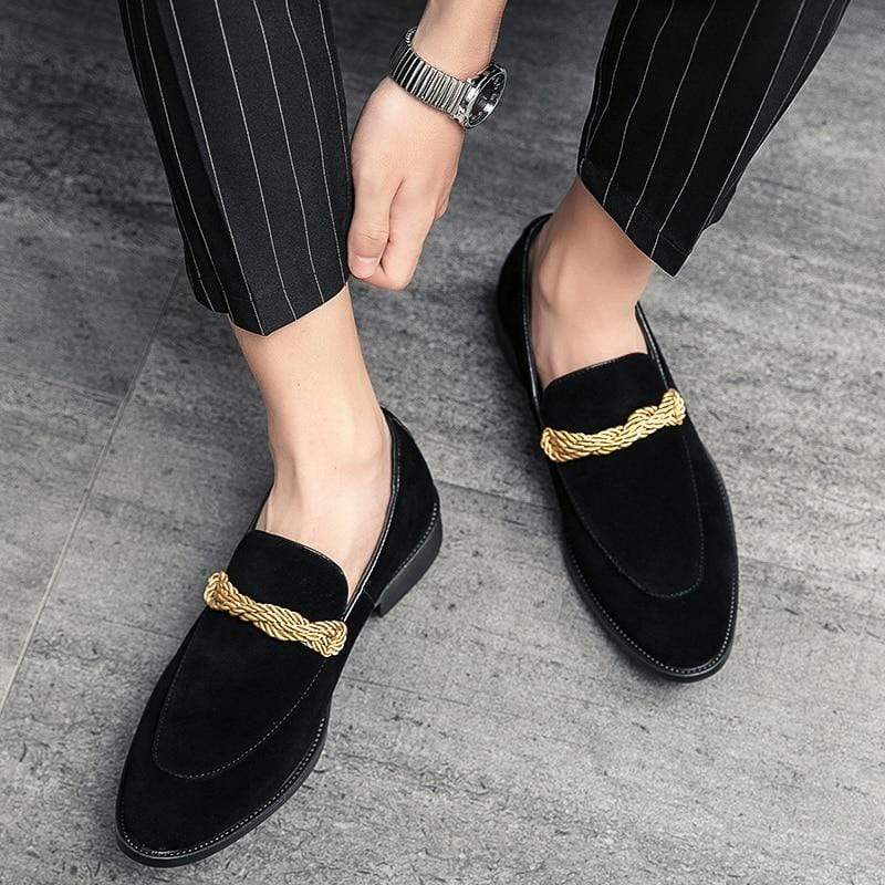 Twisted Suede Loafers