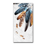 Watercolor Feathered Canvas Art Collection 25X50cm No Frame / 1