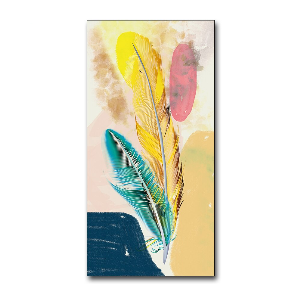 Watercolor Feathered Canvas Art Collection