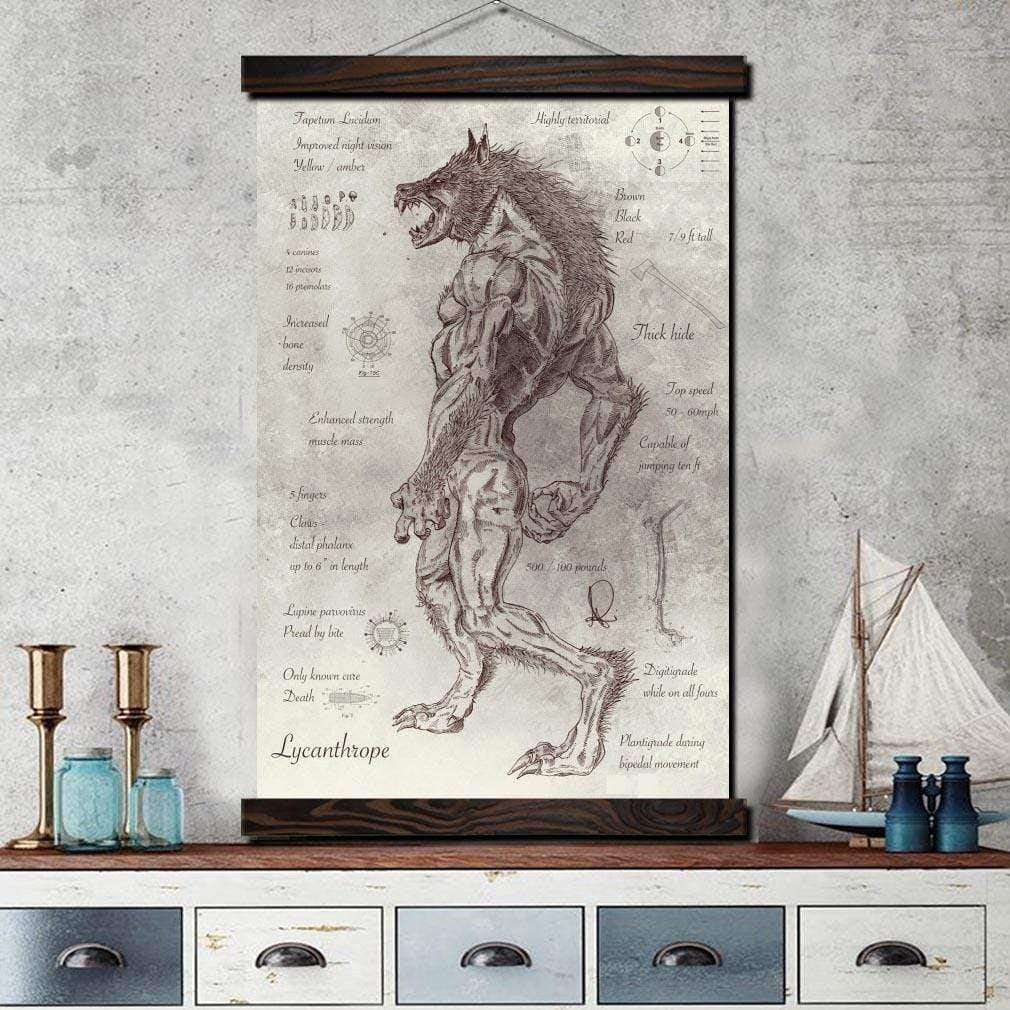 Werewolf Anatomy Scroll 50x75cm Scroll