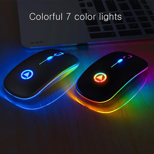 Wireless Silent LED Gaming Mouse - 50%