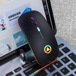 Wireless Silent LED Gaming Mouse - 50% Black