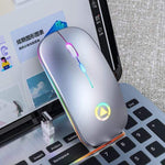 Wireless Silent LED Gaming Mouse - 50% Silver