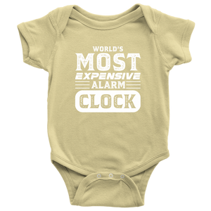 World's Most Expensive Alarm Clock - Onesie Baby Bodysuit / Lemon / NB