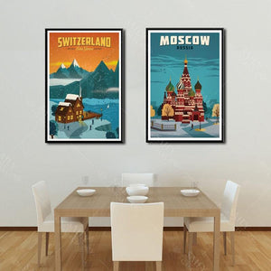 Worldly Travels Canvas Collections