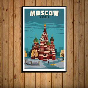 Worldly Travels Canvas Collections 30x40 cm no frame / 16