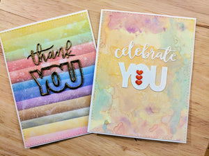 All About You Dies & Distress Oxide Backgrounds!