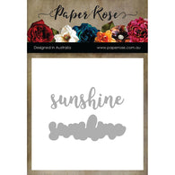 SUNSHINE -PAPER ROSE DIES