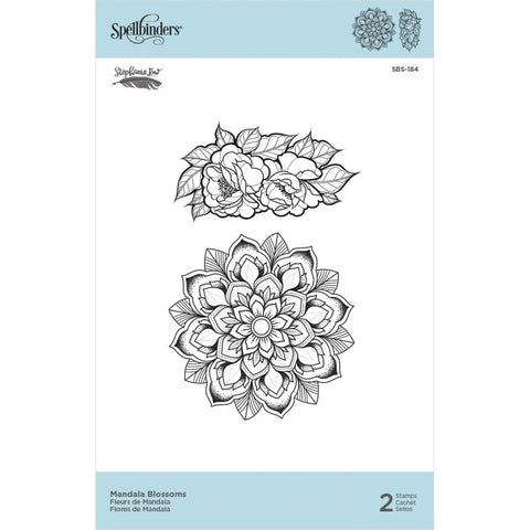 "Spellbinders Cling Stamps By Stephanie Low - Mandala Blossoms 1.75"" To 3.2"""