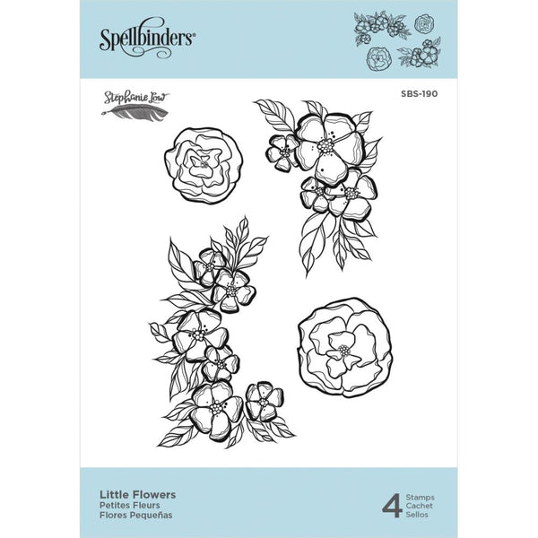 "Spellbinders Cling Stamps By Stephanie Low - Little Flowers 1"" To 3.1"""