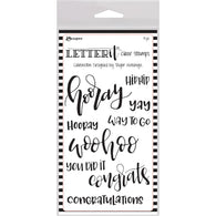Ranger Letter It Clear Stamp Set CELEBRATE -CLEAR STAMPS
