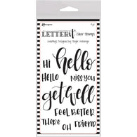 Ranger Letter It Clear Stamp Set GREETINGS -CLEAR STAMPs