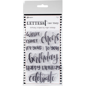 Ranger Letter It Clear Stamp Set BIRTHDAY -CLEAR STAMPS