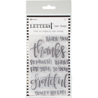 Ranger Letter It Clear Stamp Set THANK YOU -CLEAR STAMPS