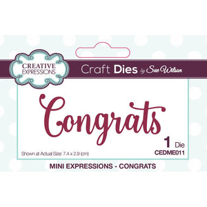 Creative Expressions Craft Dies By Sue Wilson CONGRATS