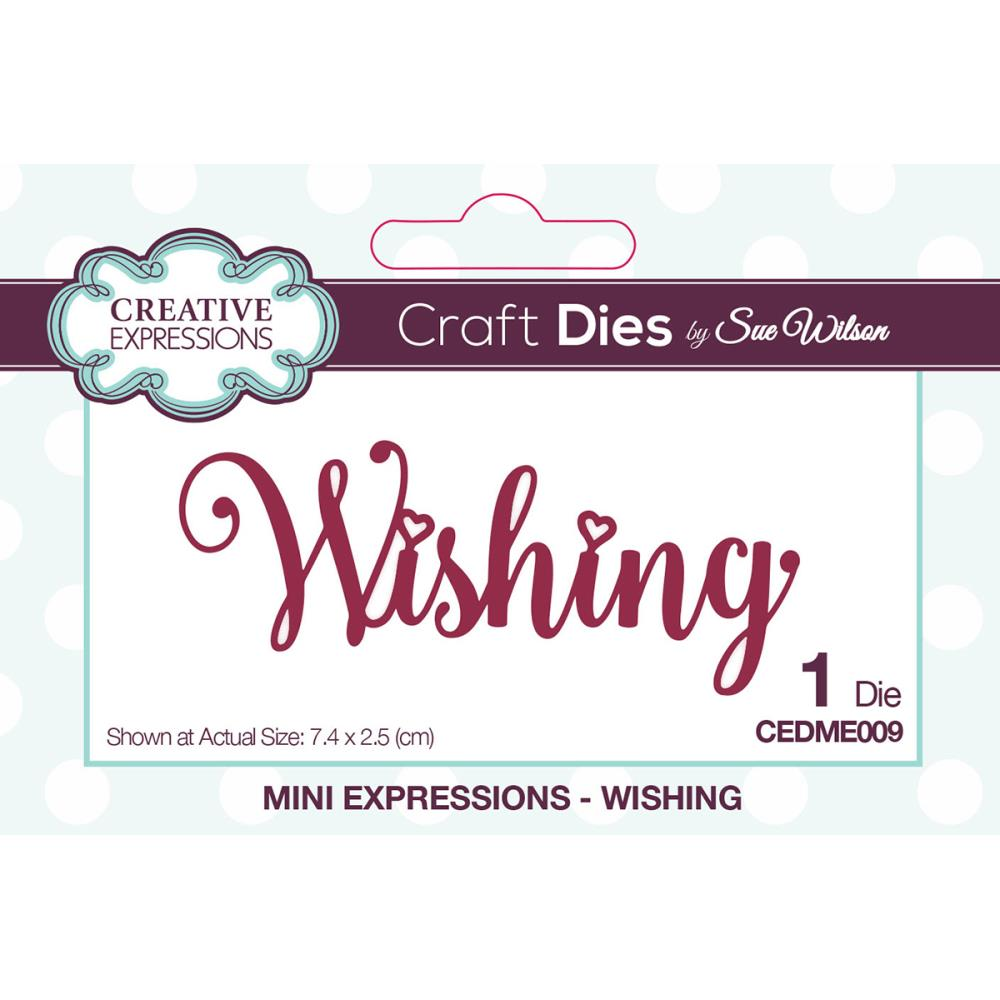 Creative Expressions Craft Dies By Sue Wilson WISHING