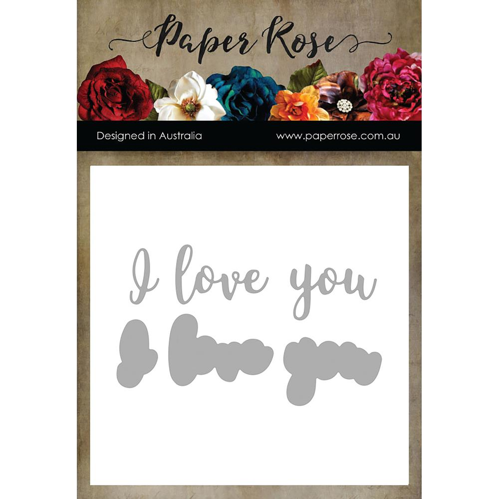 I LOVE YOU Layered - PAPER ROSE DIES