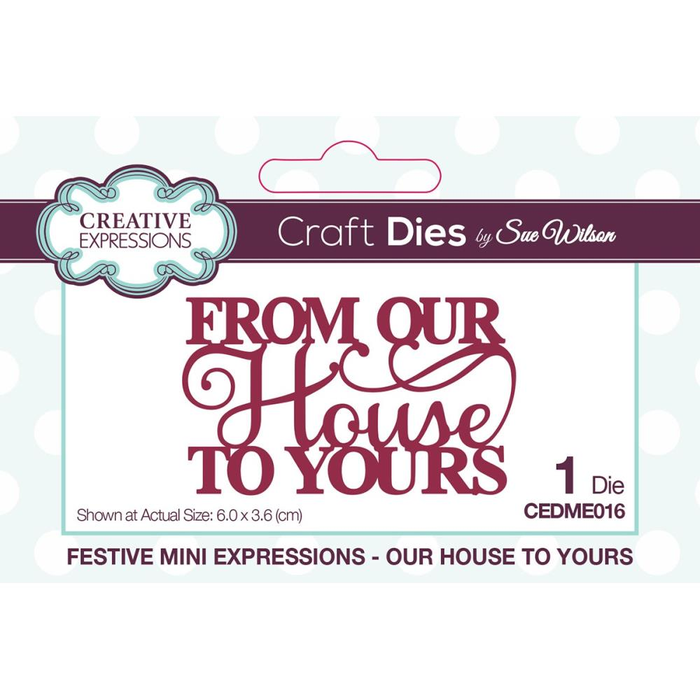 Creative Expressions MINI Craft Dies By Sue Wilson - OUR HOUSE TO YOURS