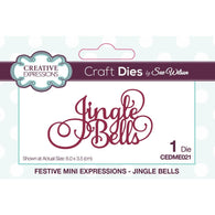 Creative Expressions MINI Craft Dies By Sue Wilson - JINGLE BELLS