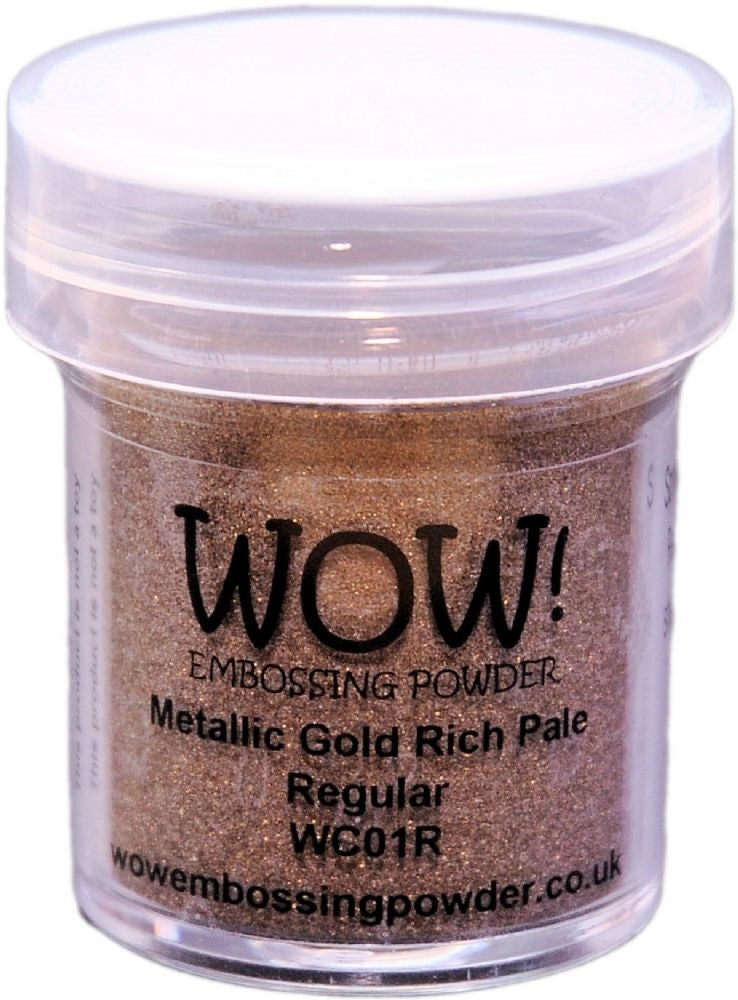 METALLIC GOLD RICH PALE-WOW! EMBOSSING powder