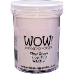 WOW Embossing Powder CLEAR GLOSS SUPER FINE LARGE JAR WA01SF-L