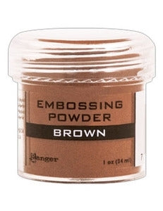 Ranger Empossing Powder 1 OZ - BROWN
