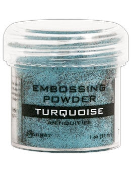 Ranger Embossing Powder Antiquities  1 OZ - TURQUOISE