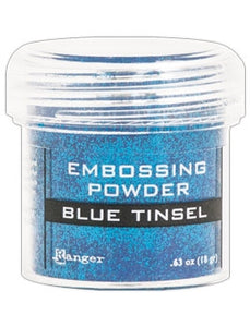 Ranger Embossing Powder  1 OZ - BLUE TINSEL