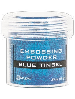 Ranger Empossing Powder TINSEL  1 OZ - BLUE