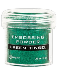 Ranger Embossing Powder  1 OZ - GREEN TINSEL