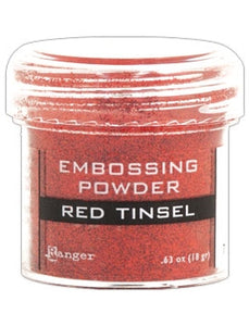 Ranger Embossing Powder 1 OZ - RED TINSEL