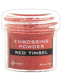 Ranger Empossing Powder TINSEL  1 OZ - RED